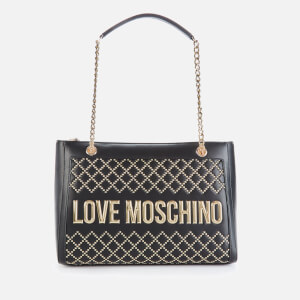 Love Moschino Women's Quilt Stud Tote Bag - Black