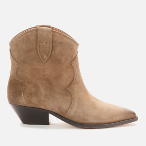 Isabel Marant Women's Dewina Suede Western Boots - Taupe