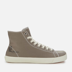 Maison Margiela Men's Tabi Canvas Hi-Top Trainers - Walnut