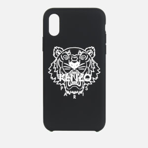 KENZO iPhone X Max Silicone Tiger Phone Case - Black
