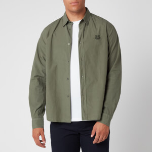 KENZO Men's Tiger Crest Poplin Shirt - Fern