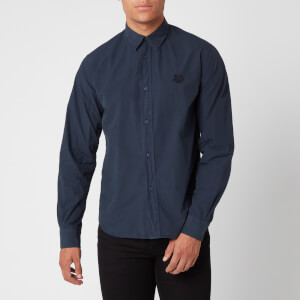 KENZO Men's Tiger Crest Poplin Shirt - Navy Blue