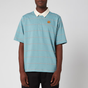 KENZO Men's Striped Seasonal Polo Shirt - Glacier