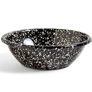 HAY Enamel Serving Bowl - Black Sprinkle