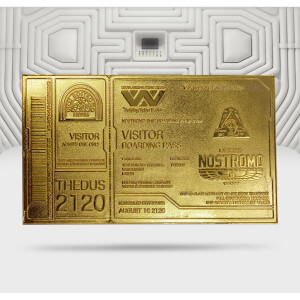 Alien 24K Gold Plated Boarding Ticket Limited Edition Replica - Zavvi Exclusive