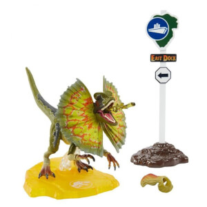 Mattel Jurassic Park Dilophosaurus 6 Inch Scale Amber Collection Action Figure