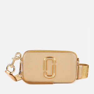 Marc Jacobs Women's Snapshot DTM Metallic Cross Body Bag - Yellow Gold