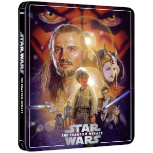 Exclusivité Zavvi : Steelbook Star Wars, épisode I : La Menace fantôme – 4K Ultra HD (Édition 3 Disques Blu-ray inclus)