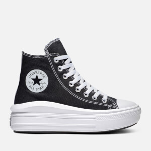 Converse Women's Chuck Taylor All Star Move Hi-Top Trainers - Black/Natural Ivory/White