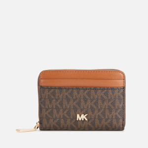 MICHAEL MICHAEL KORS Women's Mott Coin Card Case - Brown/Acorn