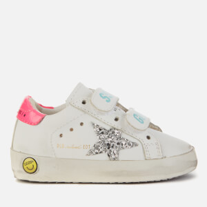 Golden Goose Deluxe Brand Toddlers' Old School Trainers - White/Silver/Fuchsia