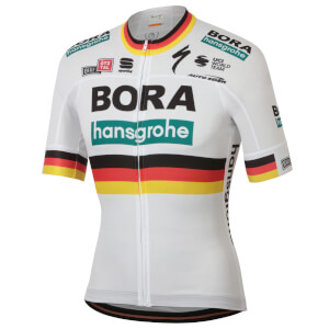 Sportful Bora Hansgrohe German Champion BodyFit Team Jersey - White
