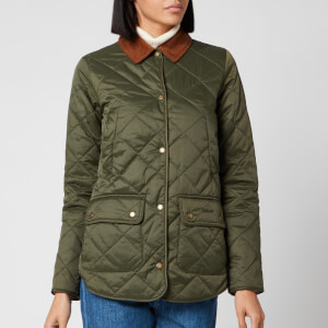 Barbour X Laura Ashley Women's Spruce Quilt Jacket - Olive/Indienne