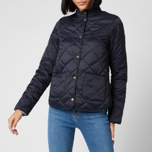 Barbour X Laura Ashley Women's Elm Quilt Coat - Navy/Shepherds Purse