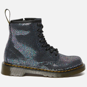 Dr. Martens Kids' 1460 Spot Metallic Suede Lace-Up Boots - Black