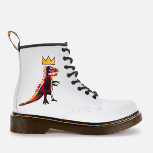 Dr. Martens Basquiat Kids' 1460 Leather Lace-Up Boots - White