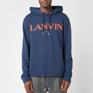 Lanvin Men's Chest Logo Hoodie - Navy