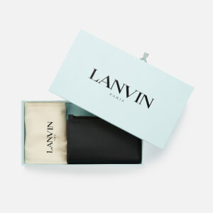 Lanvin Men's Large Zipped Card Wallet - Black