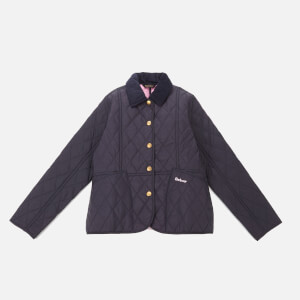 Barbour Heritage Girls' Liddesdale Quilt Jacket - Navy/Moonlight Pink