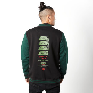 Teenage Mutant Ninja Turtles By The Slice Varsity Jacket - Black / Green