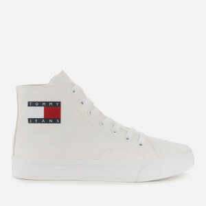 Tommy Jeans Women's Mid Cup Canvas Hi-Top Trainers - White