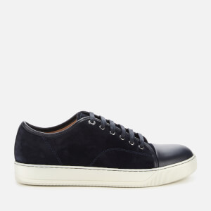 Lanvin Men's DBB1 Suede/Leather Captoe Trainers - Navy Blue