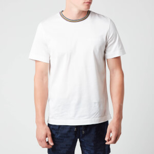 Missoni Men's Short Sleeve Collar Detail T-Shirt - White