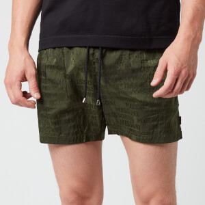 Missoni Men's Logo Print Drawcord Swim Shorts - Green