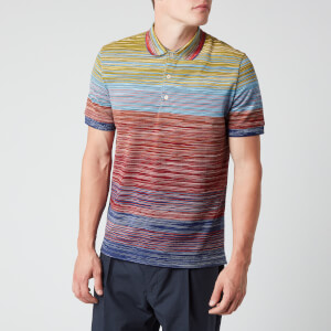 Missoni Men's Stripe Short Sleeve Polo Shirt - Multi