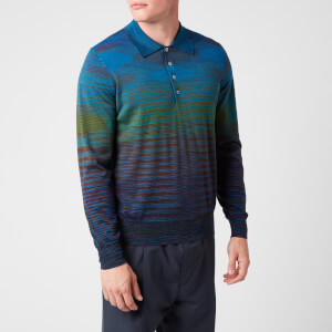 Missoni Men's Stripe Long Sleeve Polo Shirt - Multi