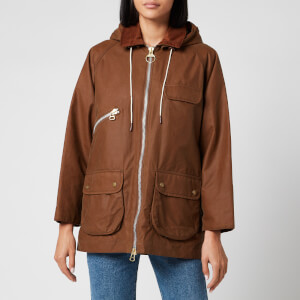 Barbour X Alexa Chung Women's Violet Mix Hooded Jacket - Tan/Classic Tartan