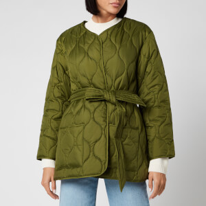 Barbour X Alexa Chung Women's Martha Cropped Quilt Jacket - Vintage Green