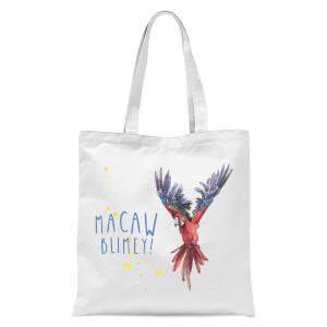 Snowtap Macaw Blimey Tote Bag - White