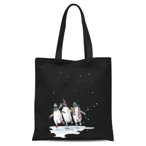 Snowtap Penguins Tote Bag - Black