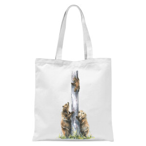 Snowtap Bear Family Of Three Tote Bag - White