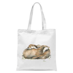 Snowtap Otters Tote Bag - White