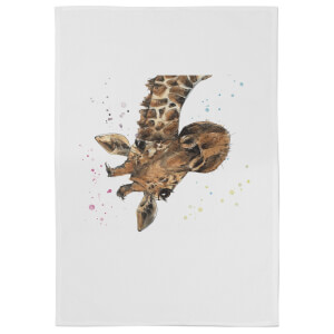 Snowtap Giraffe Cotton Tea Towel - White