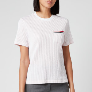 Thom Browne Women's Short Sleeve Pocket T-Shirt - Light Pink