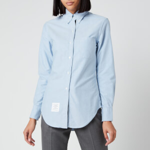 Thom Browne Women's Classic Long Sleeve Shirt - Light Blue