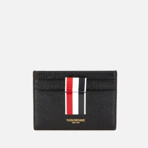 Thom Browne Women's Intarsia Stripe Single Card Holder - Black