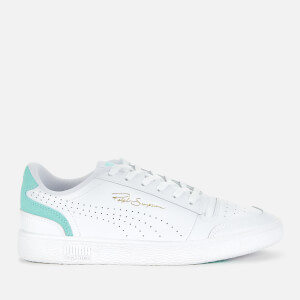 Puma Women's Ralph Sampson Lo Perf Colourblock Trainers - Puma White/Aruba Blue