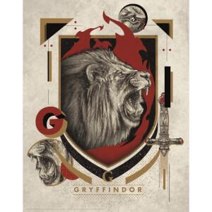 Harry Potter Art Print : Gryffindor Crest