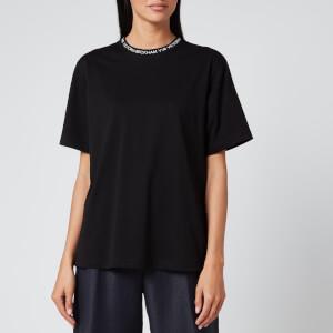 Victoria, Victoria Beckham Women's Logo Rib T-Shirt - Black