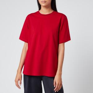 Victoria, Victoria Beckham Women's Logo Rib T-Shirt - Cherry Red