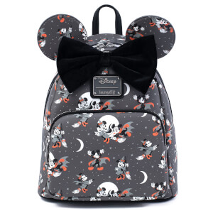 Loungefly Disney Mickey Minnie Halloween Vamp Witch AOP Mini Backpack