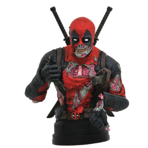Diamond Select Gentle Giant Marvel Deadpool Zombie 1/6 Scale Bust Statue - SDCC Exclusive