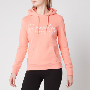Superdry Women's Alice Script Emb Entry Hoody - Desert Flower