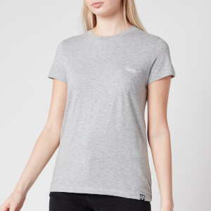 Superdry Women's Orange Label Crew Neck T-Shirt - Mid Grey Marl