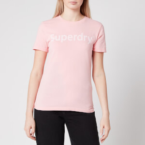 Superdry Women's Regular Flock Entry T-Shirt - Ballet Pink