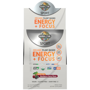 Garden of Life Sport Organic Energy plus Focus Sugar Free Sample Sachet - Blackberry Cherry